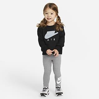 Nike Air Set med tröja med rund hals och leggings för små barn