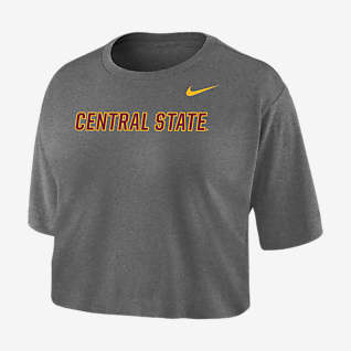 Nike College Dri-FIT (Central State) Playera cropped para mujer