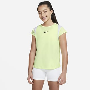 Nike Dri-FIT Older Kids' (Girls') Short-Sleeve Graphic Training Top