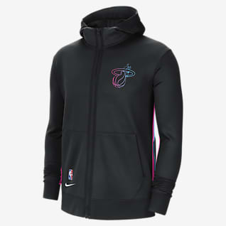 Miami Heat Showtime City Edition Men's Nike Therma Flex NBA Hoodie