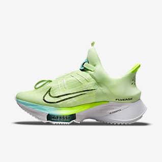Nike Air Zoom Tempo NEXT% FlyEase รองเท้าวิ่งโร้ดรันนิ่งผู้หญิงใส่/ถอดง่าย