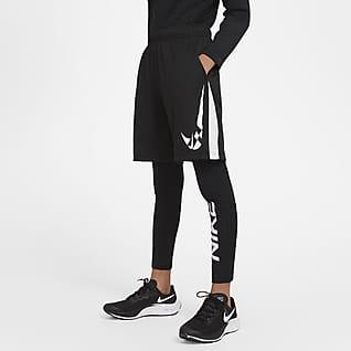 Nike Pro Warm 大童(男孩)印花训练紧身裤