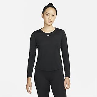Nike Dri-FIT One เสื้อผู้หญิงแขนยาวทรงมาตรฐาน