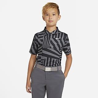Nike Dri-FIT Mintás, galléros fiú golfpóló