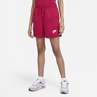 Nike Air Damen-Webshorts mit hohem Bund