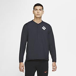 Nike Playera rompevientos de manga larga de béisbol para hombre