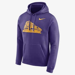 Nike College Club Fleece (LSU) Sudadera sin cierre para hombre