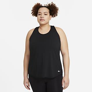 Nike Breathe Cool Damska koszulka bez rękawów do biegania (duże rozmiary)