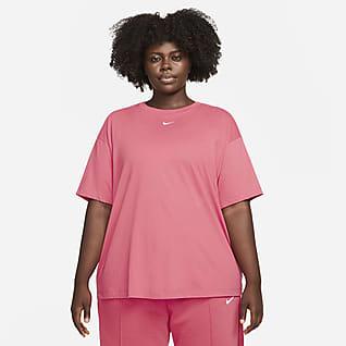 Nike Sportswear Essential Bol Kesimli Kısa Kollu Kadın Üstü (Büyük Beden)