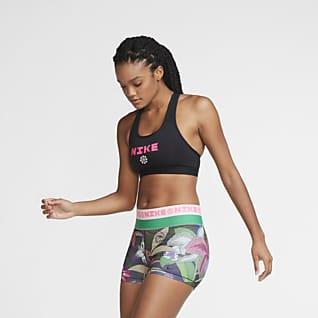 Nike Swoosh Icon Clash Sujetador deportivo de sujeción media para mujer