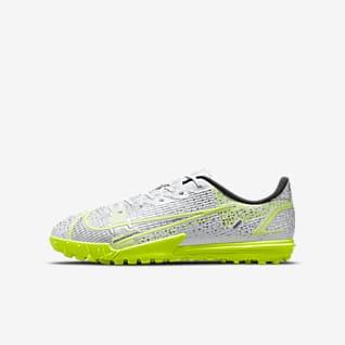 Nike Jr. Mercurial Vapor 14 Academy TF Calzado de fútbol para césped deportivo para niños talla pequeña/grande