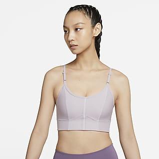 Nike Yoga Dri-FIT Indy Longline 女子低强度支撑衬垫运动内衣