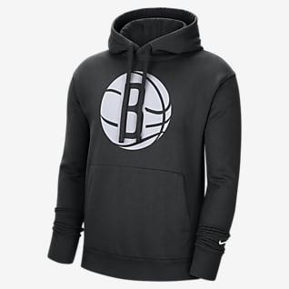 Brooklyn Nets Essential Sudadera con capucha sin cierre Nike NBA para hombre