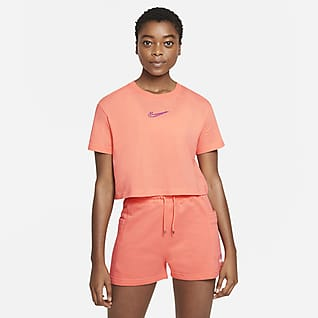 Nike Sportswear Damski T-shirt do tańca o krótkim kroju