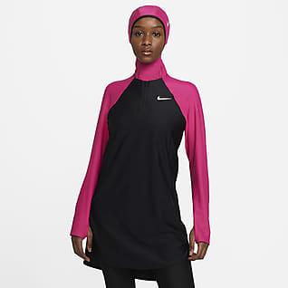 Nike Victory Part superior de natació de protecció completa - Dona
