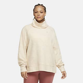 Nike Therma Women's High-Neck Fleece Training Top (Plus Size)