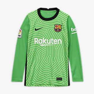 FC Barcelona 2020/21 Stadium Goalkeeper Fotbollströja för ungdom