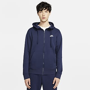 Nike Sportswear Club Fleece Hettejakke med hel glidelås til herre