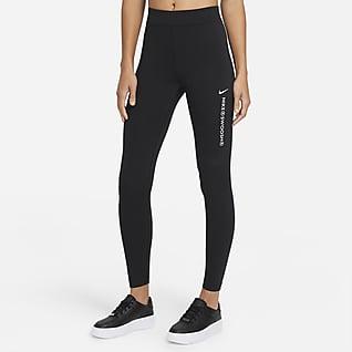 Nike Sportswear Swoosh Damen-Leggings mit hohem Bund
