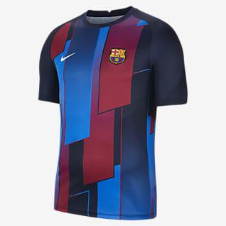 FC Barcelona Мужская предматчевая игровая футболка с коротким рукавом