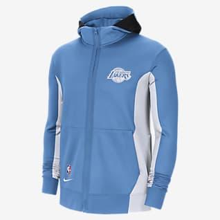 Los Angeles Lakers Showtime City Edition Sudadera con capucha de la NBA Nike Therma Flex para hombre