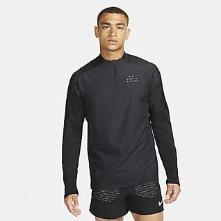 Nike Dri-FIT Run Division Flash Element Løbeoverdel med lynlås i halv længde til mænd