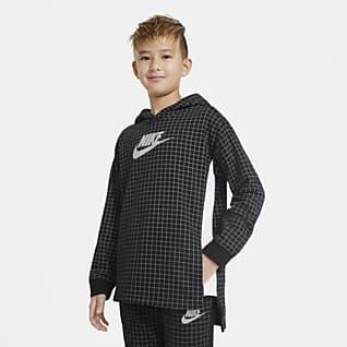 Nike Sportswear Flísová mikina pro větší děti (chlapce) s kulatým výstřihem