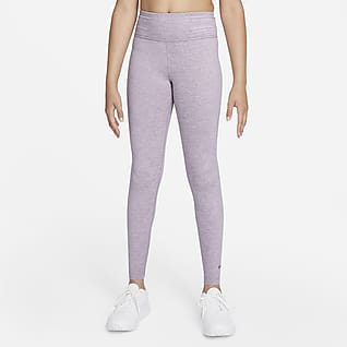 Nike Dri-FIT One Luxe Leggings med høj talje til større børn (piger)