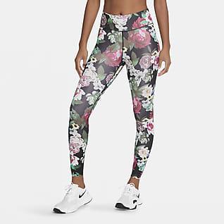 Nike One Leggings 7/8 de acaado floral para mujer