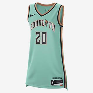 Sabrina Ionescu Liberty Rebel Edition Camiseta Nike Dri-FIT WNBA Victory para mujer