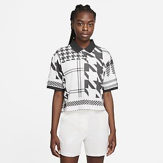 Das Nike Polo Damen-Poloshirt mit Karomuster
