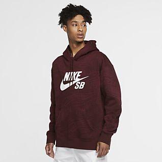 Heren Rood Hoodies en sweatshirts. Nike NL