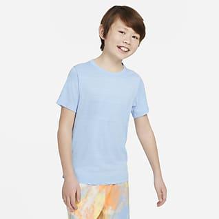 Nike Dri-FIT Miler Μπλούζα προπόνησης για μεγάλα αγόρια