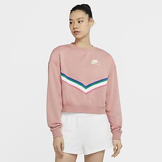 Nike Sportswear Fleeceshirt met ronde hals voor dames