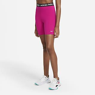 Nike Pro 365 Shorts med hög midja 18 cm för kvinnor