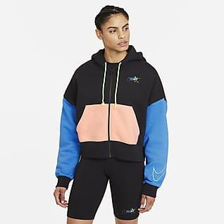 Nike Sportswear Sudadera con capucha de tejido Fleece con cierre completo para mujer