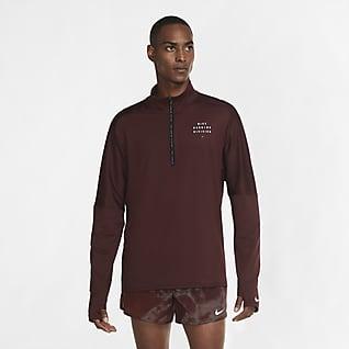 Nike Element Run Division Löpartröja med halv dragkedja för män