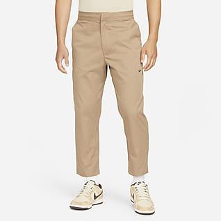 Nike Sportswear Style Essentials Calças com punho entrançadas e sem forro para homem