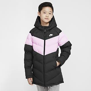 Nike Sportswear Mimořádně dlouhá bunda se syntetickou výplní pro větší děti