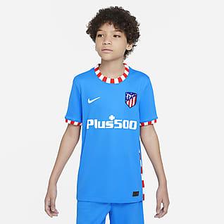 Atlético Madryt 2021/22 Stadium (wersja trzecia) Koszulka piłkarska dla dużych dzieci Nike Dri-FIT