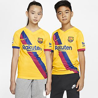 FC Barcelona 2019/20 Stadium Away Camisola de futebol Júnior