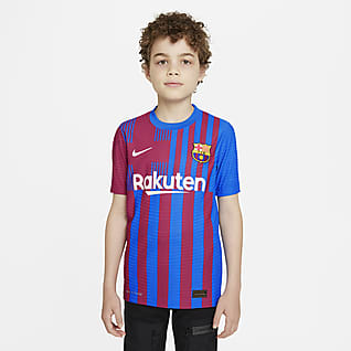 Домашняя форма ФК «Барселона» 2021/22 Match Футбольное джерси для школьников Nike Dri-FIT ADV