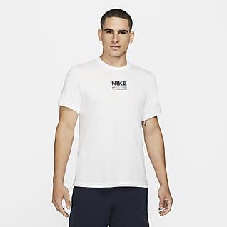 Nike Dri-FIT Kortärmad träningströja med tryck för män