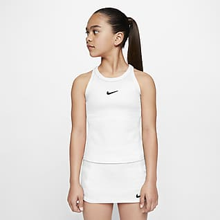 NikeCourt Dri-FIT Tennistopp for store barn (jente)