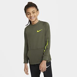 Nike Camiseta de entrenamiento de tejido Fleece para niños talla grande