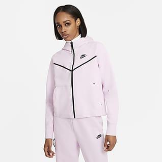 Nike Sportswear Tech Fleece Windrunner Felpa con cappuccio e zip a tutta lunghezza - Donna