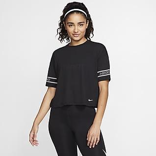Nike Pro Γυναικεία κοντομάνικη μπλούζα με σχέδιο