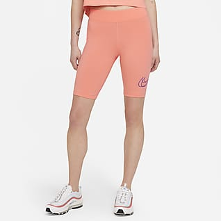 Women/'s Mid-Rise Yoga Shorts Pink QB