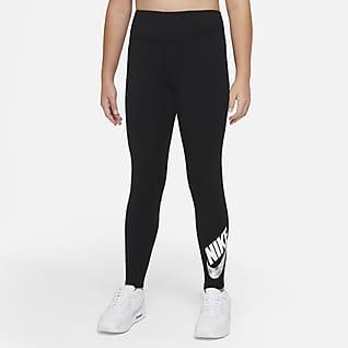 Nike Sportswear Favorites Leggings con gráfico de tiro alto para niña talla grande (talla amplia)
