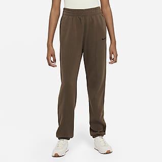 Nike Sportswear Essential Collection Damskie spodnie z dzianiny z efektem sprania
